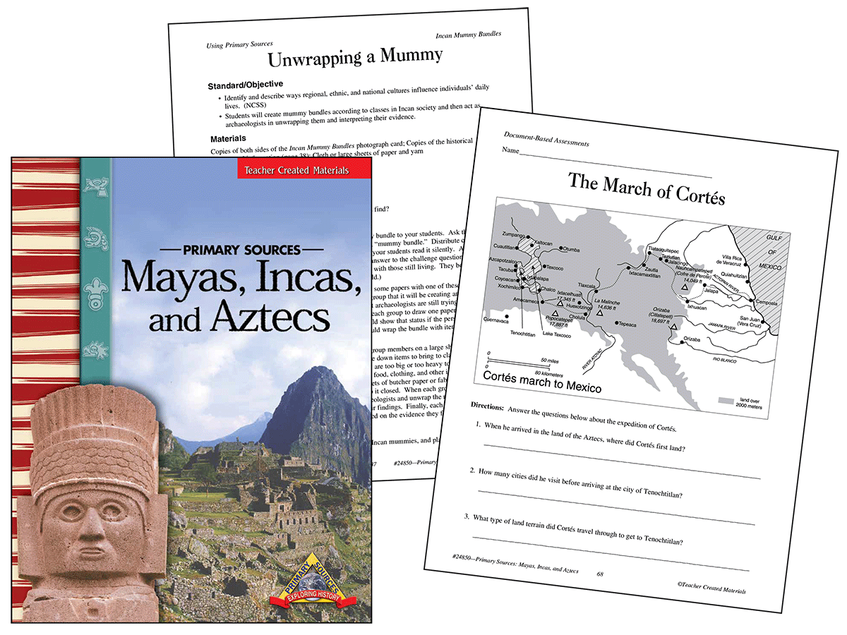 Primary Sources: Mayas, Incas, and Aztecs Kit