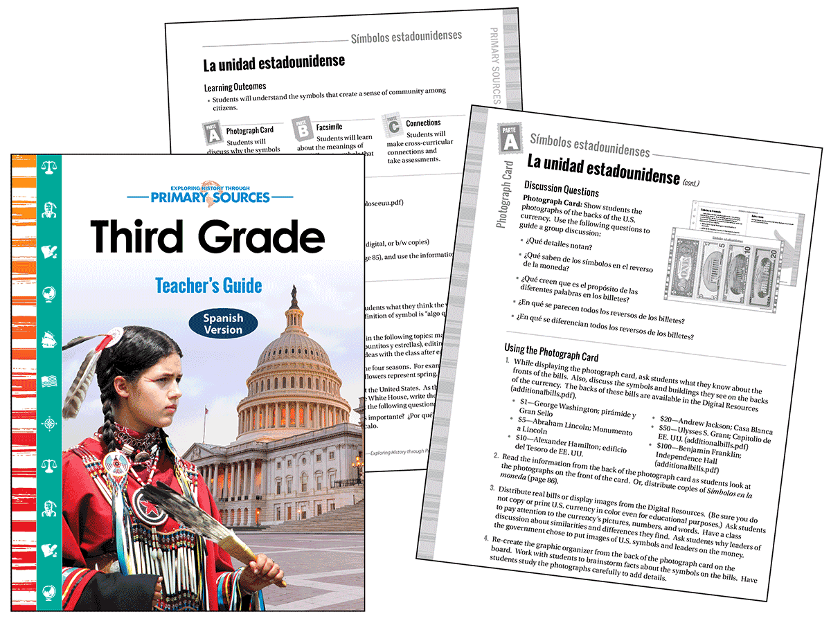 Primary Sources: Third Grade Kit (Spanish)