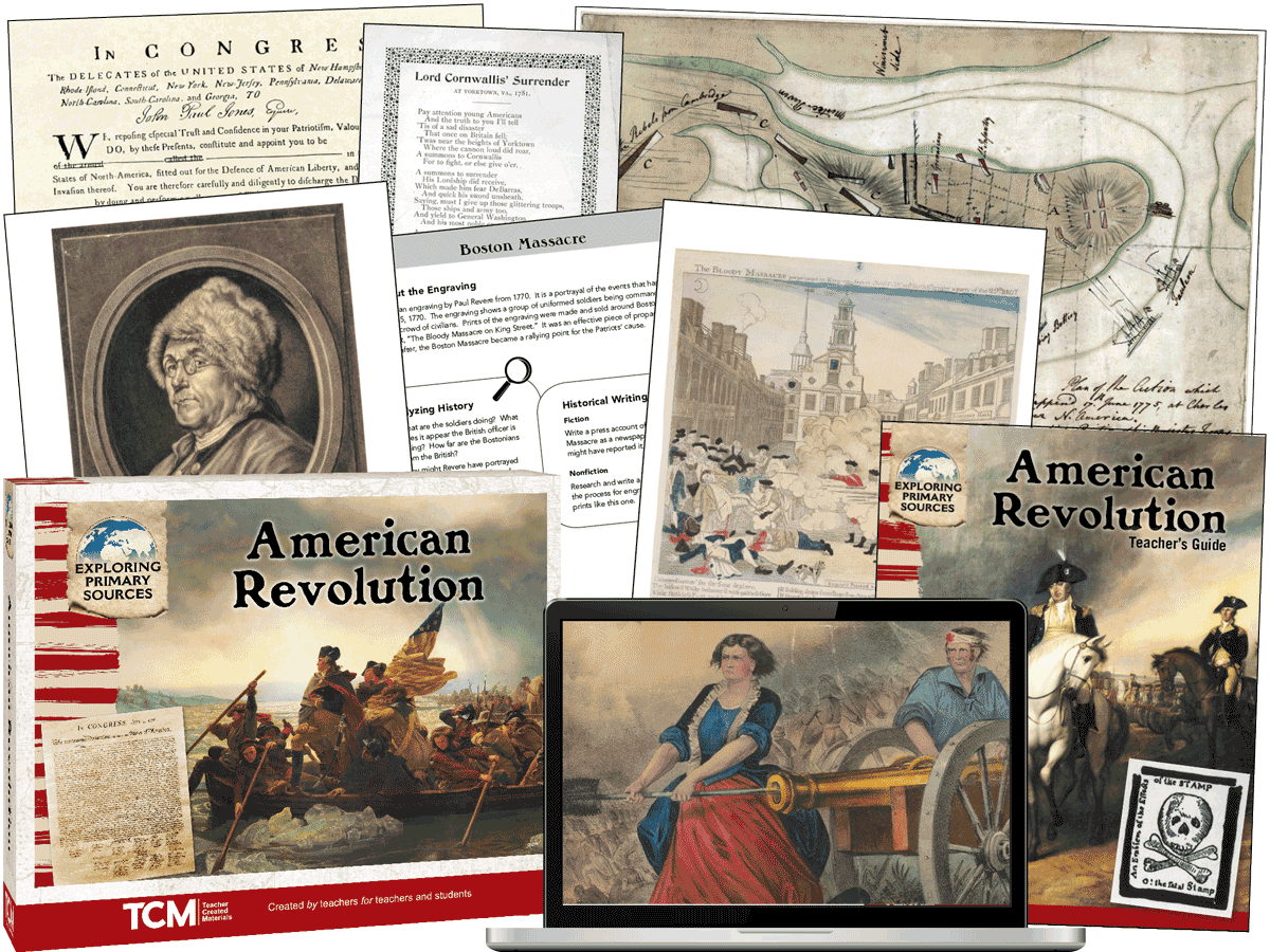 Exploring Primary Sources: American Revolution, 2nd Edition Kit