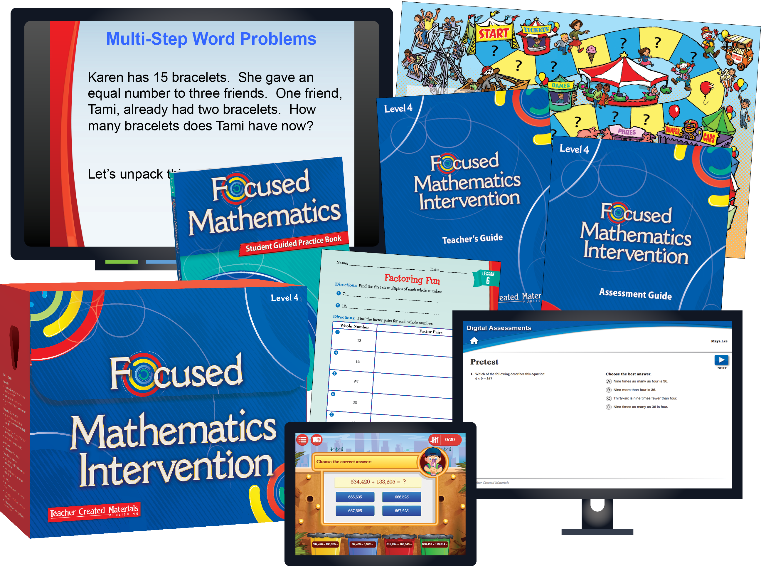 Focused Mathematics Intervention: Level 4 Kit