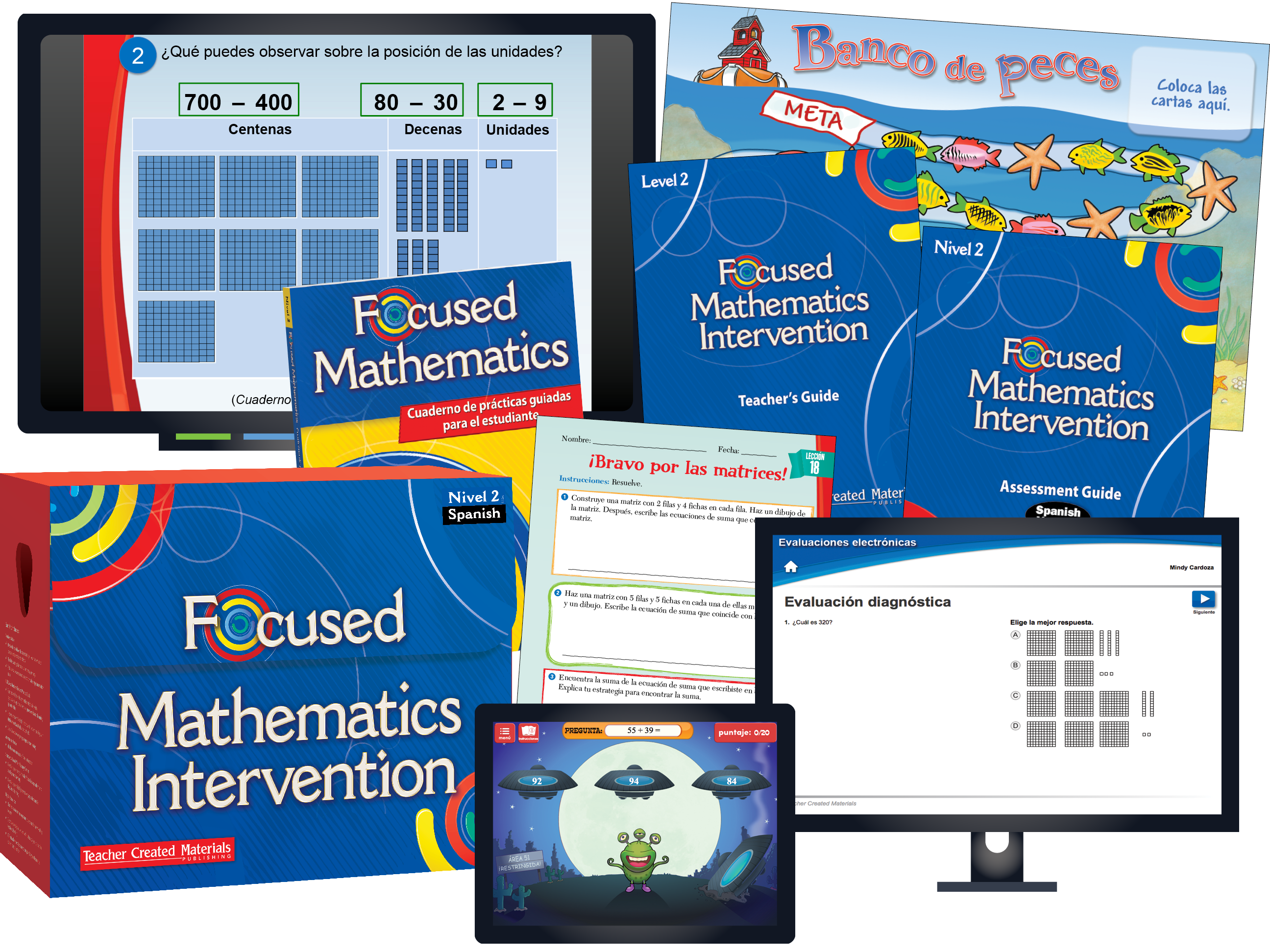Focused Mathematics Intervention: Nivel 2 (Level 2): Spanish Kit