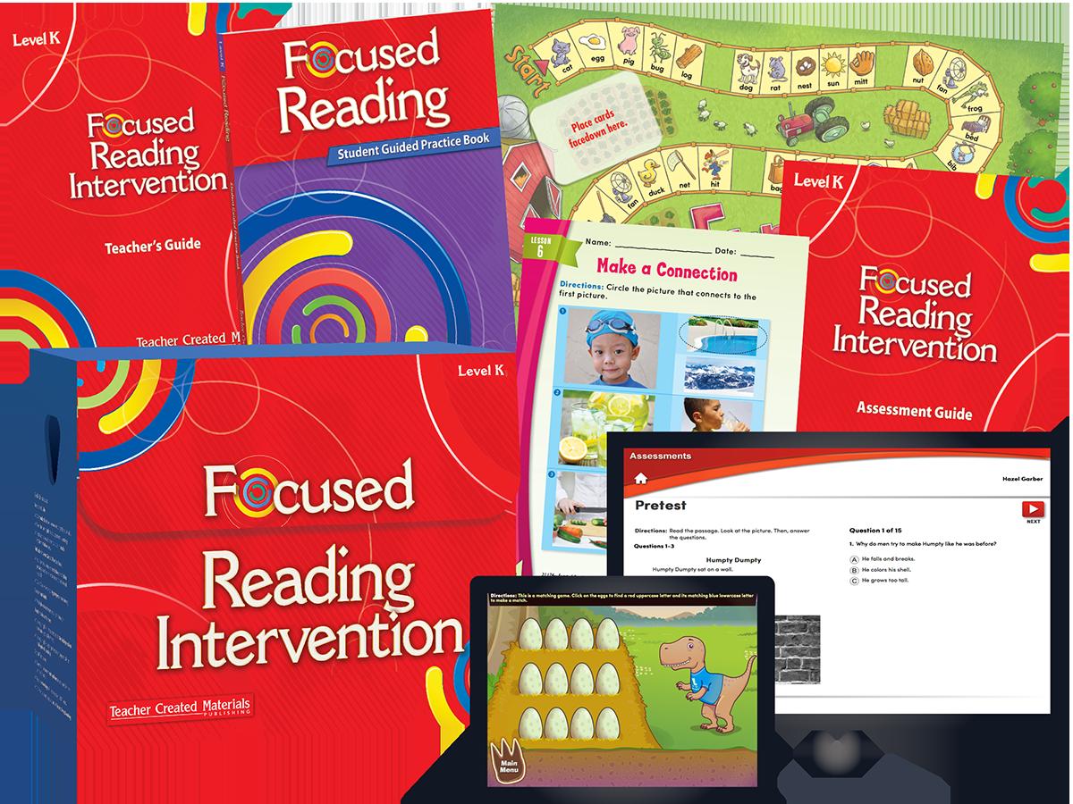 Worksheet Reading Level K focused reading intervention level k kit teacher created materials kit