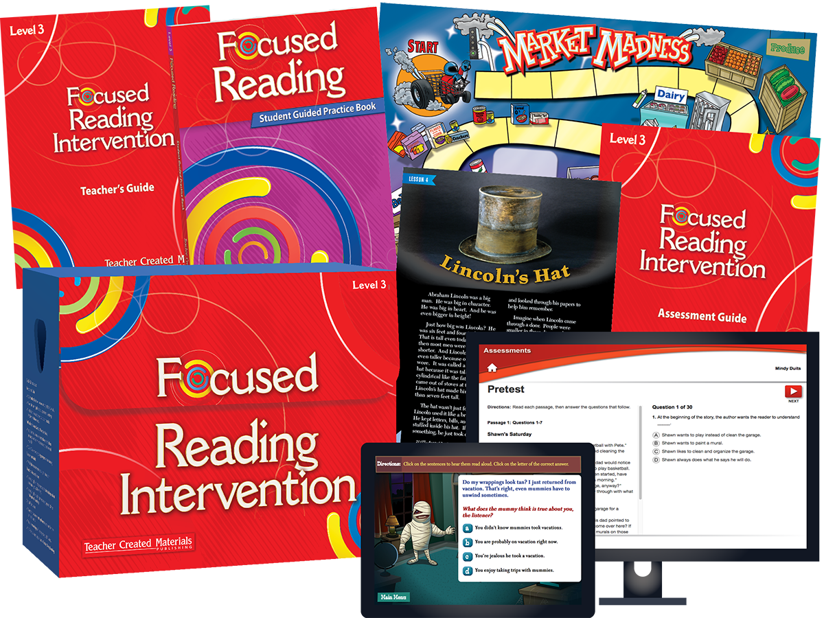 Focused Reading Intervention: Level 3 Kit
