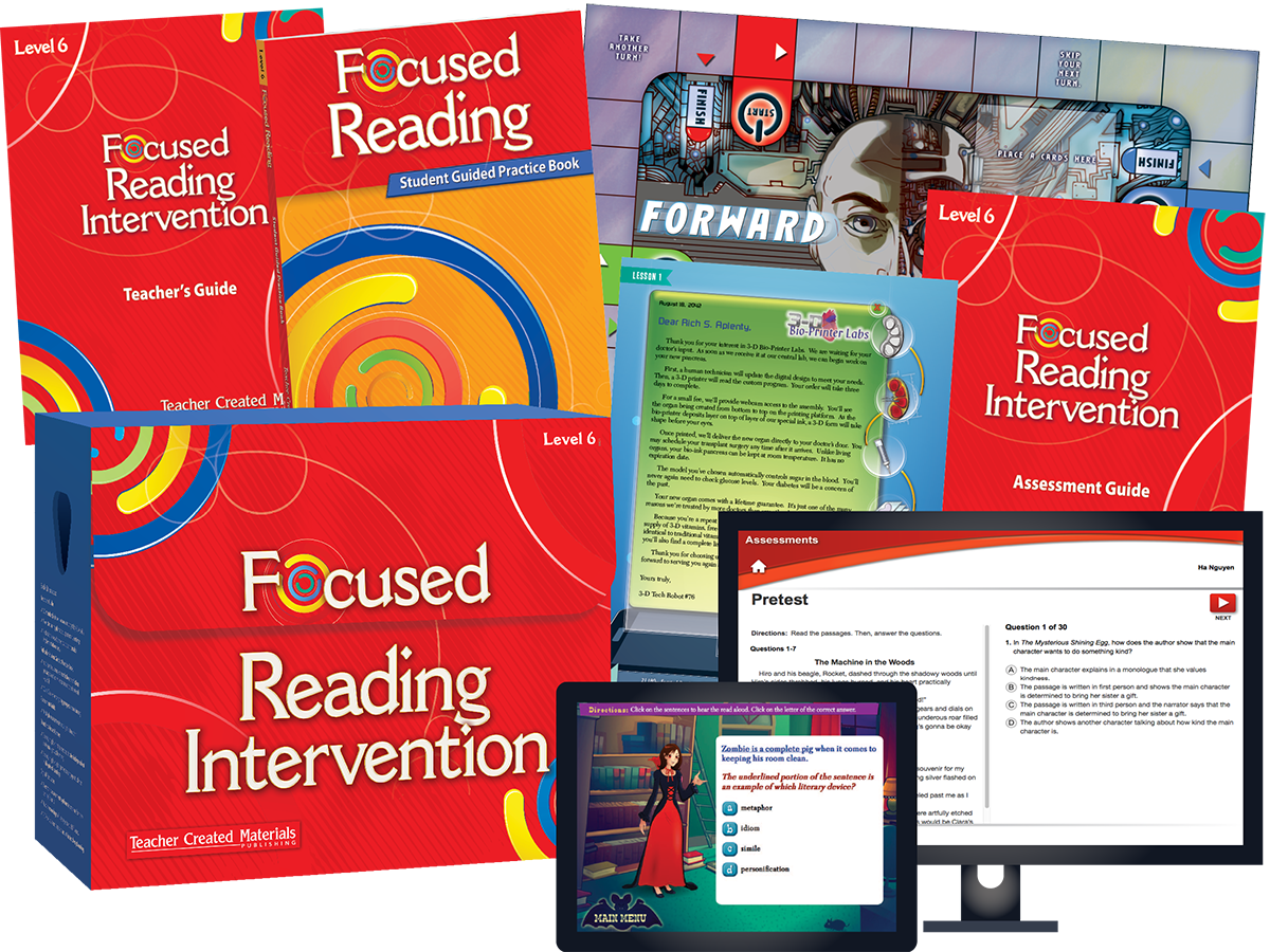Focused Reading Intervention: Level 6 Kit