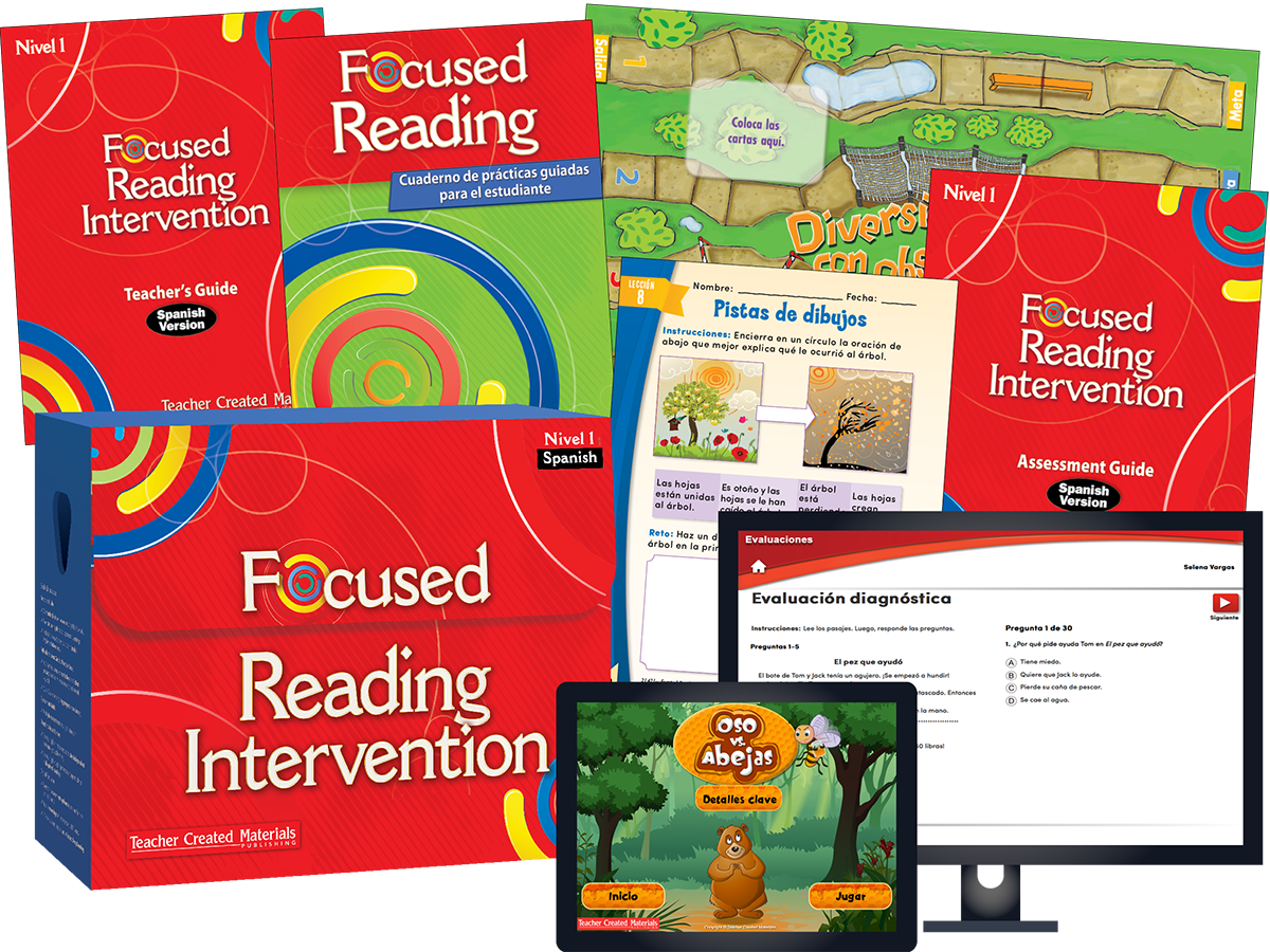 Focused Reading Intervention: Nivel 1 (Level 1) Kit (Spanish Version)