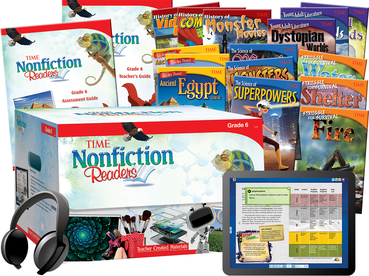 TIME® Nonfiction Readers: Grade 6 Kit