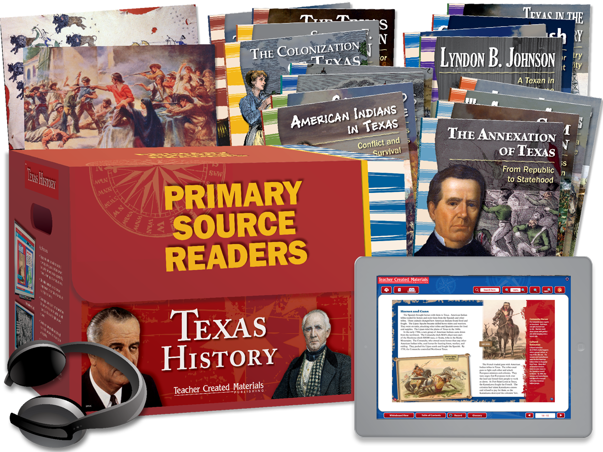 Primary Source Readers: Texas History Kit