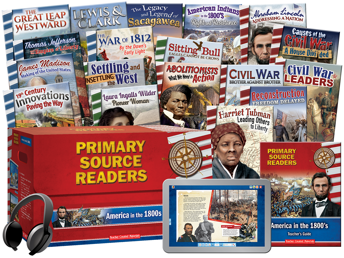 Primary Source Readers: America in the 1800s Kit
