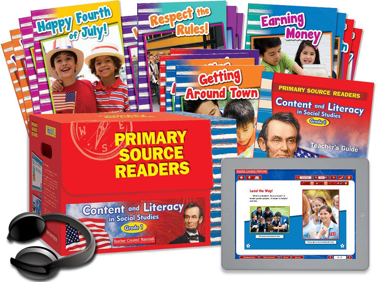 Primary Source Readers Content and Literacy: Grade 1 Kit
