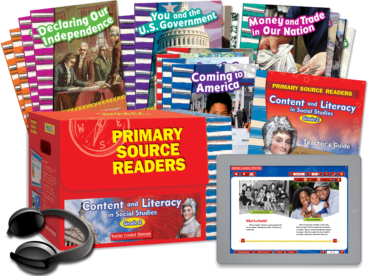 Primary Source Readers Content and Literacy: Grade 2 Kit