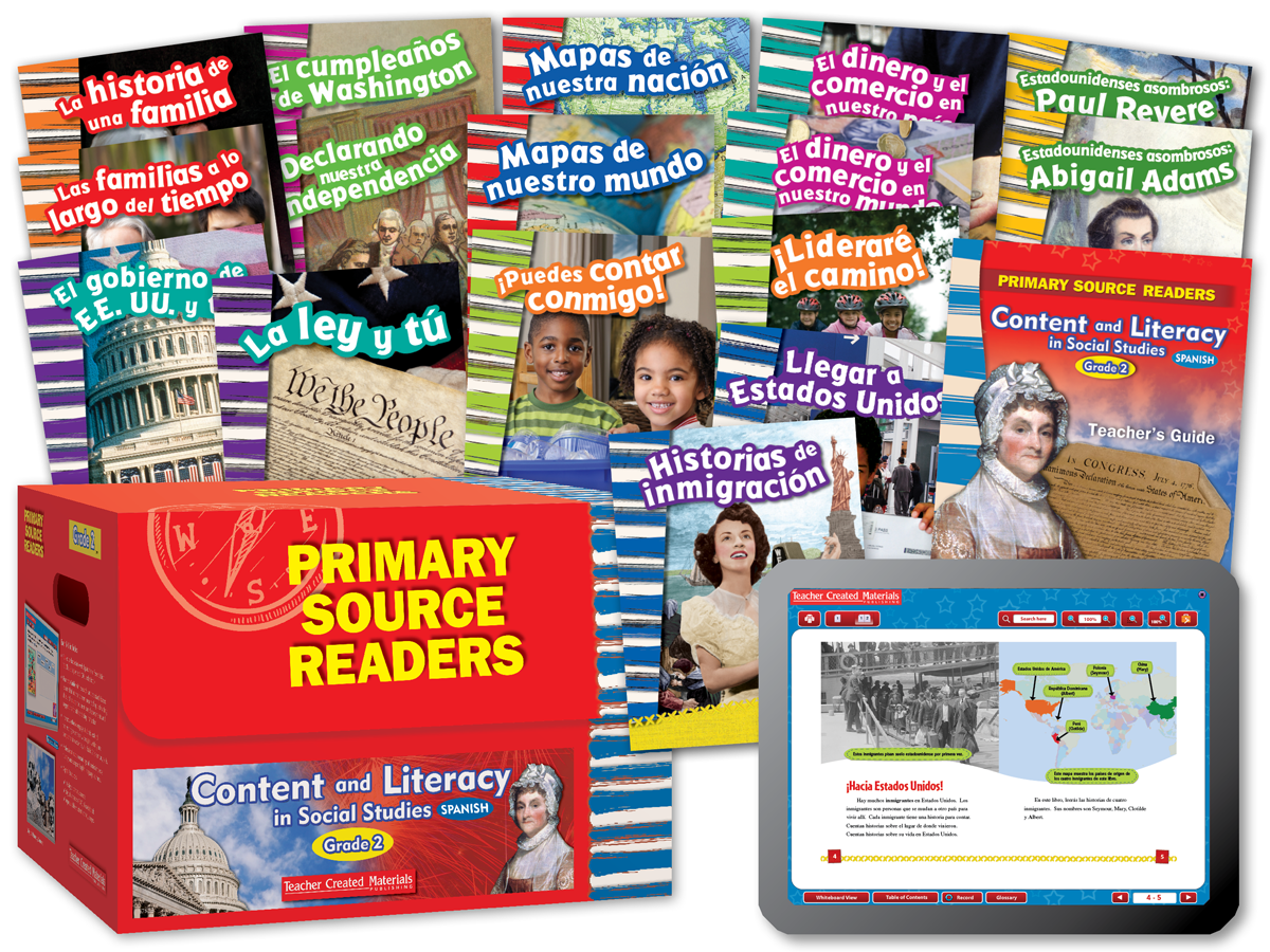 Primary Source Readers Content and Literacy: Grade 2 Kit (Spanish Version)