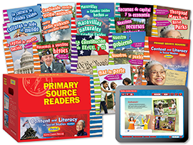 Primary Source Readers Content and Literacy: Grade 3 Kit (Spanish Version)