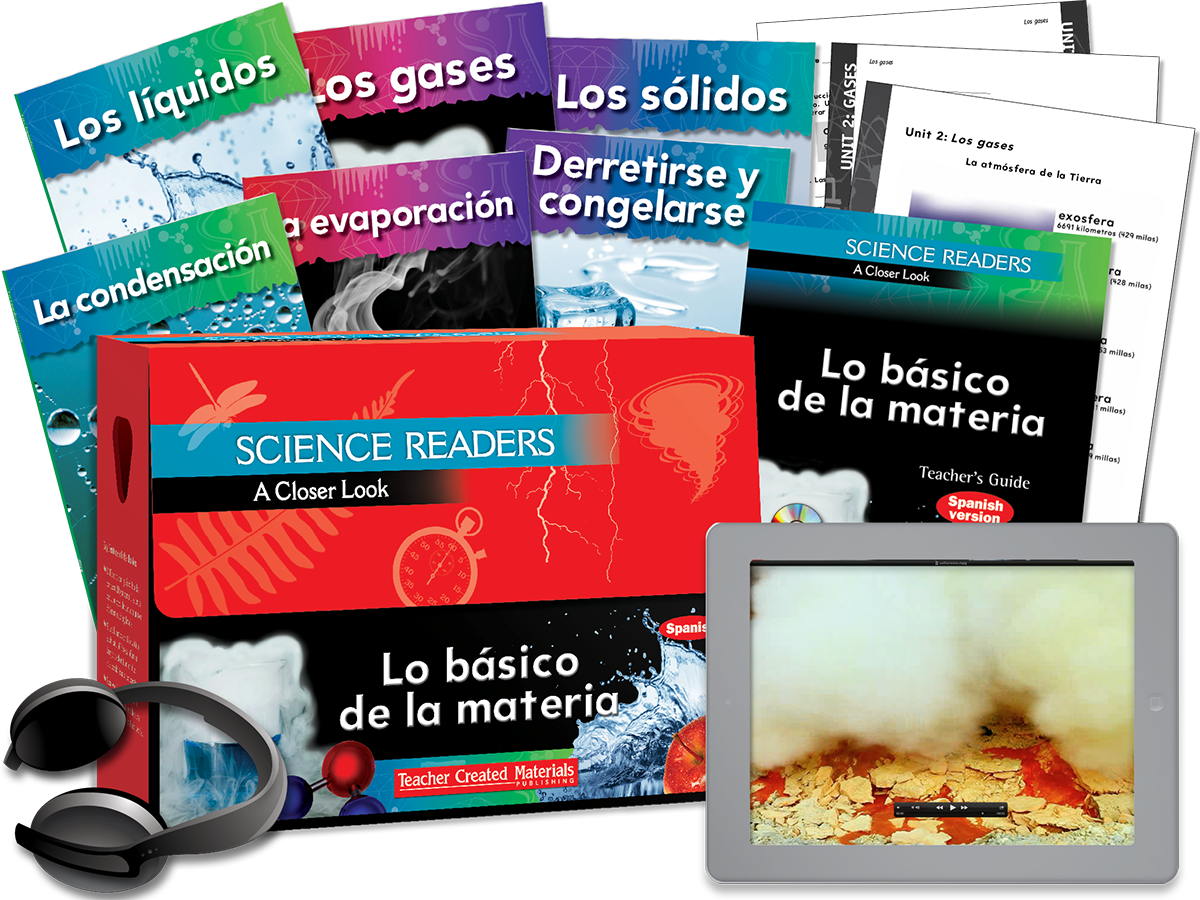 Science Readers: A Closer Look: Lo básico de la materia (Basics of Matter) Kit (Spanish Version)