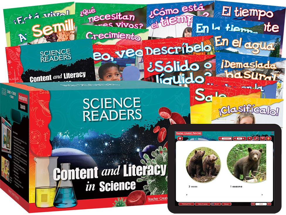 Science Readers: Content and Literacy: Kindergarten Kit (Spanish)