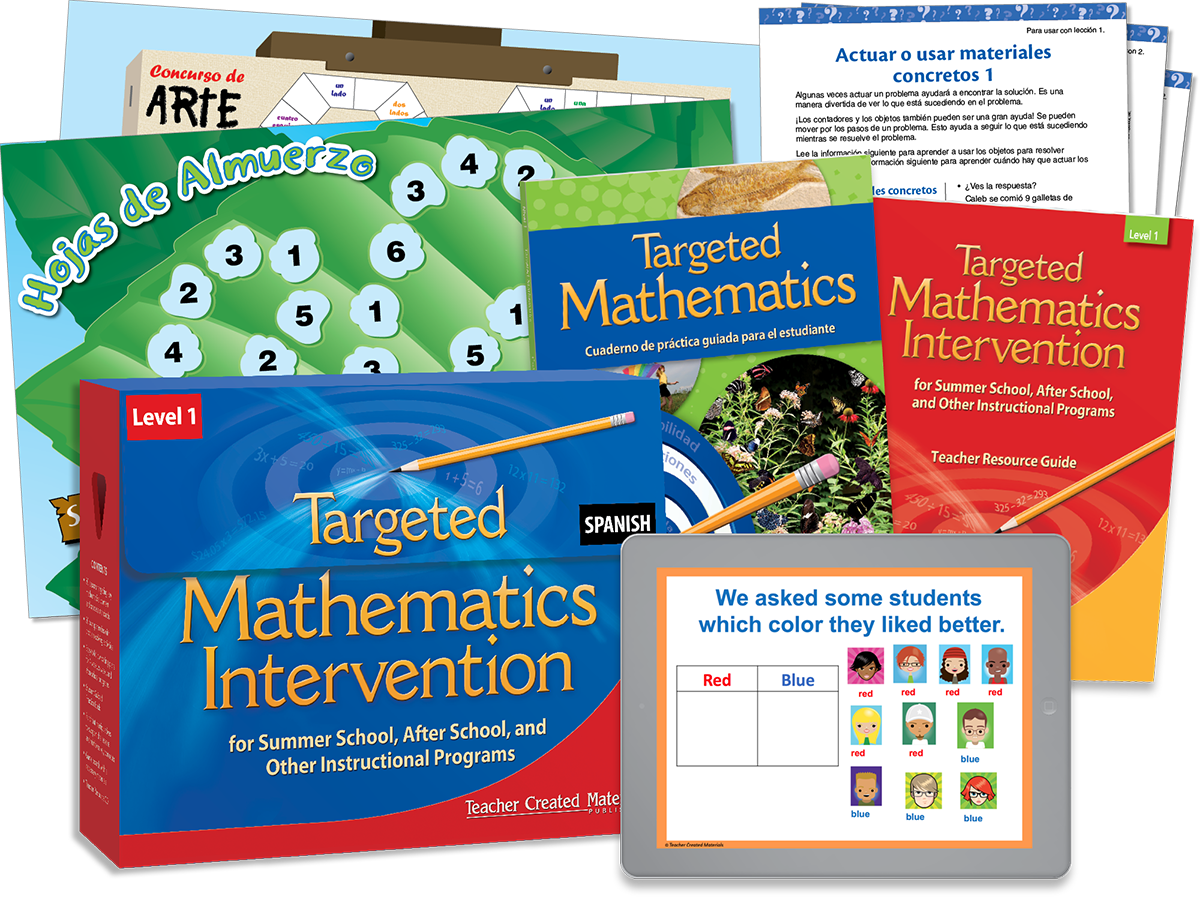 Targeted Math Intervention: Nivel 1 (Level 1) Kit (Spanish Version)
