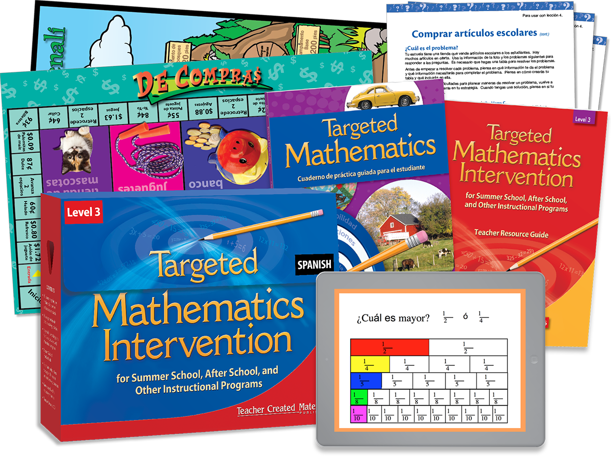 Targeted Math Intervention: Nivel 3 (Level 3) Kit (Spanish Version)