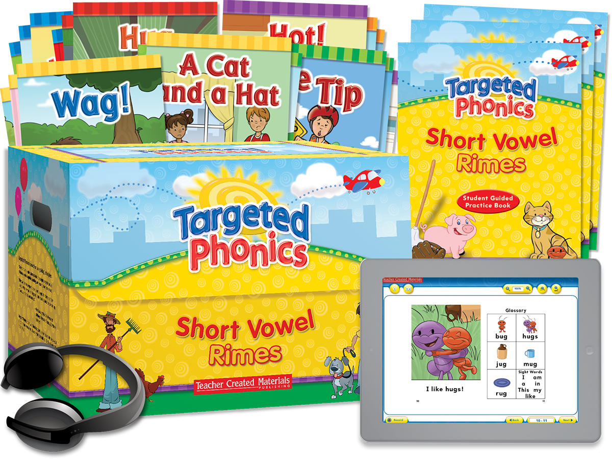 Targeted Phonics: Short Vowel Rimes Kit