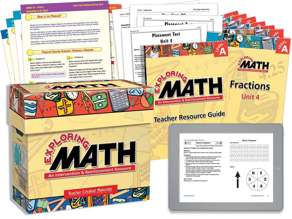 Exploring Math Intervention and Reinforcement Resources – Teacher Created Materials Inc Worksheets